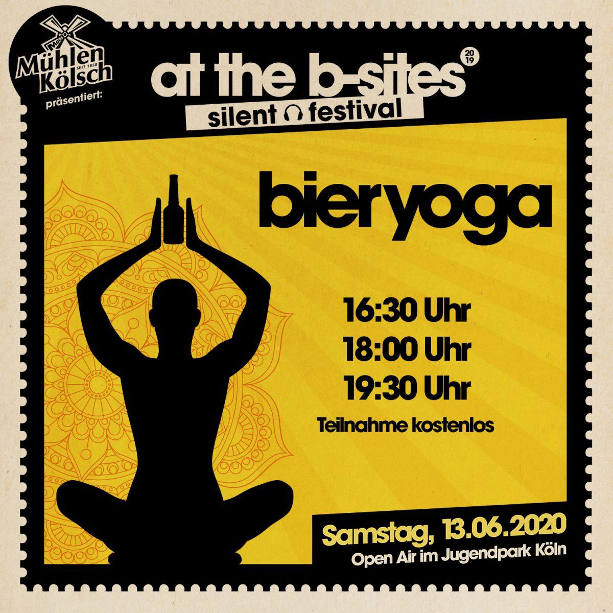 Bier Yoga • At The B-Sites Festival 2020 Jugendpark Köln
